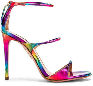 Aquazzura Minute 105 Sandal in Multicolor | FWRD