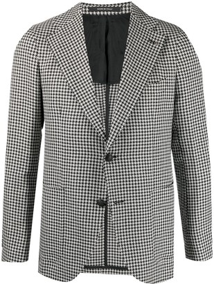 Tagliatore Houndstooth Single-Breasted Jacket