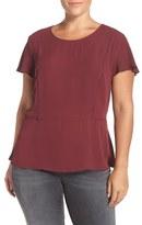 Sejour Plus Size Women's Crepe Georgette Flare Top