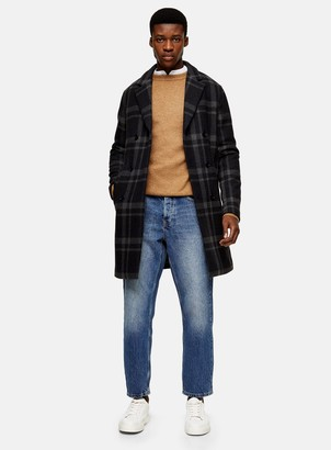 Topman SELECTED HOMME Recycled Wool Blend Double Breasted Coat