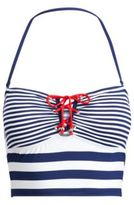 Ralph Lauren Striped Cropped Bikini Top Marine Navy/White 16