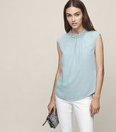 Reiss Magda - Gathered Tank Top in Blue, Womens