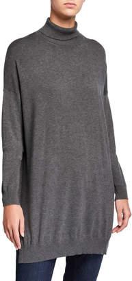 Eileen Fisher Plus Size Lightweight Cozy Turtleneck Tunic