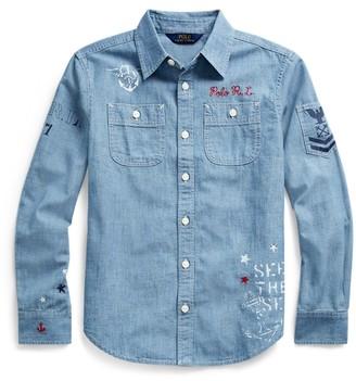 Ralph Lauren Nautical Cotton Chambray Shirt