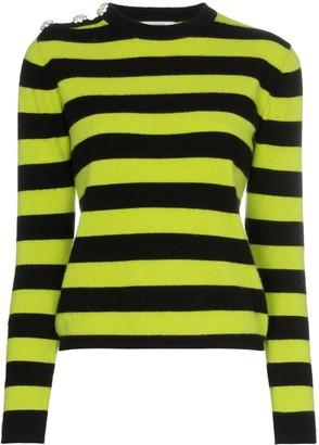Ganni Crystal Button Striped Sweater