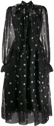 Dolce & Gabbana Tulle Polka Dot Print Dress