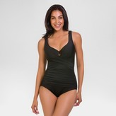 Dreamsuit by Miracle Brands Women's Slimming Control V-Neck One-Piece Swimsuit - Dreamsuit® by Miracle Brands