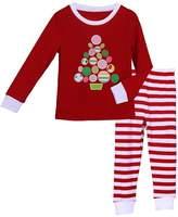 Pettigirl Girls 2 Piece Clothing Set Tree Striped Pajamas 5 Years