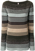 Antonio Marras striped knitted sweater - women - Nylon/Polyester/Viscose/Metallized Polyester - M