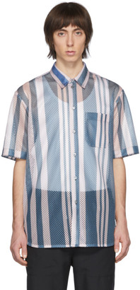 Oamc Blue and Pink Mesh Nstitute Shirt