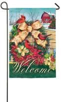 """Evergreen Welcome"""" Barn Indoor / Outdoor Garden Flag"""