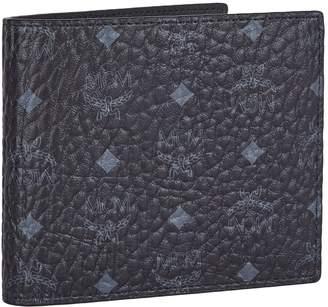MCM Visetos Original Flip Wallet