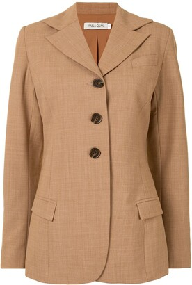 ANNA QUAN Fitted Single-Breasted Jacket