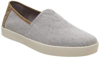 Toms Avalon Cupsole Slip Ons Drizzle Grey Chambray