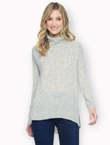 Splendid 100% Cashmere Speckled Turtleneck