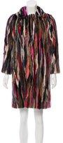 Saint Laurent Mink Fur Coat