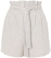 Topshop PETITE Stripe Belted Shorts