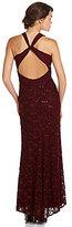 Night Way Chiffon Bodice X-Back Gown