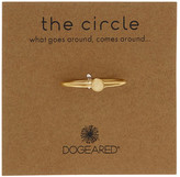 Dogeared 14K Gold Plated Sterling Silver Circle Ring