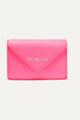 Balenciaga Papier Mini Printed Textured-leather Wallet - Pink