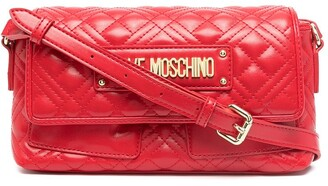 Love Moschino Logo-Plaque Quilted Crossbody Bag