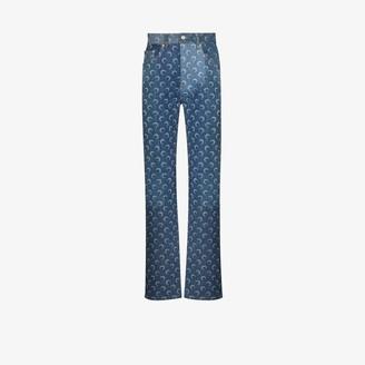 Marine Serre Crescent Moon Printed jeans