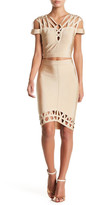 Wow Couture Caged Bodycon Top & Skirt Set