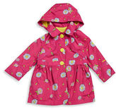 London Fog Girls 2-6x Floral Raincoat
