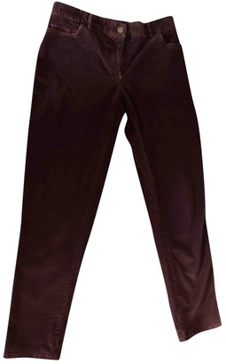Hatch Red Cotton Trousers for Women