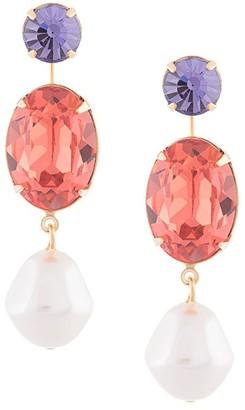 Jennifer Behr Meredith crystal-drop earrings