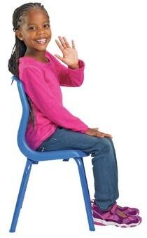 Angeles MyPosture Side Kids Desk Chair Color: Blue