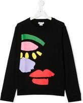 Stella McCartney TEEN face print sweatshirt