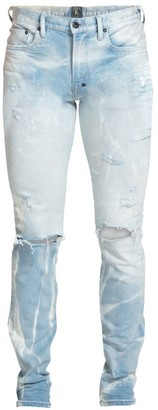 PRPS Destroyed & Bleached Slim Fit Jeans
