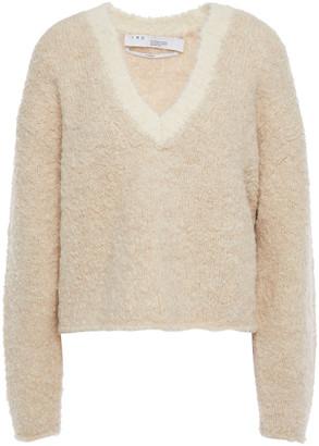 IRO Cropped Alpaca-blend Boucle Sweater