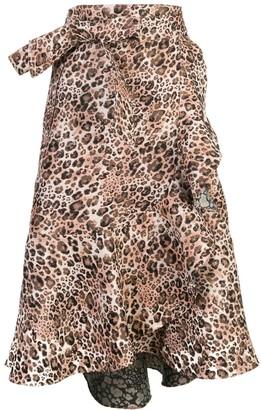 Johanna Ortiz Leopard-Print Skirt