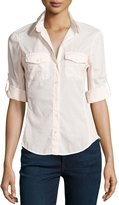 James Perse Contrast Panel Shirt, Pink Salt