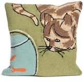Liora Manné Curious Cat Throw Pillow