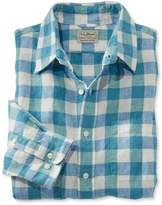 L.L. Bean L.L.Bean Linen Shirt, Slightly Fitted Long-Sleeve Plaid