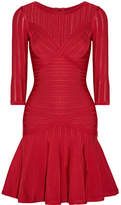 Herve Leger Kalyn Stretch-knit And Bandage Dress - Red