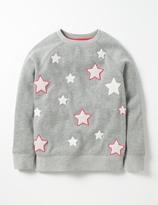 Boden Star Bouclé Sweatshirt