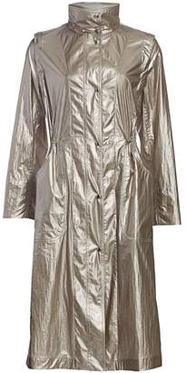 Akris Punto Long Metallic Technical Parka