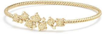 David Yurman Petite Châtelaine 18K Gold Bracelet with Yellow Diamonds