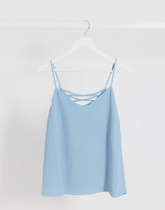 New Look cross back cami in light blue