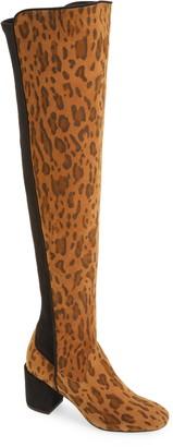 Cecelia New York Cecelia Nikita Leopard Spot Over the Knee Boot
