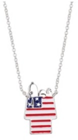 "Peanuts Fine Silver Plated Snoopy"" Americana Dog House Pendant Necklace, 16""+2"" for Unwritten"
