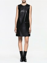 Calvin Klein Platinum Leather Sleeveless Dress
