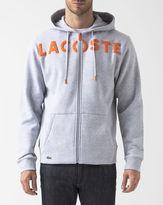 Lacoste Speckled Grey Hooded Zip-Up Sweatshirt