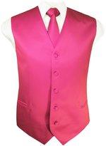 Guytalk Mens Solid Tuxedo Vest Necktie and Handkerchief Set