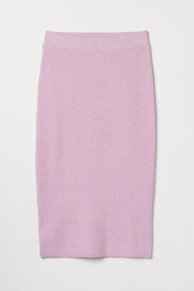 H&M Ribbed pencil skirt