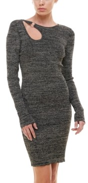 Planet Gold Juniors' Cutout O-Ring Bodycon Sweater Dress